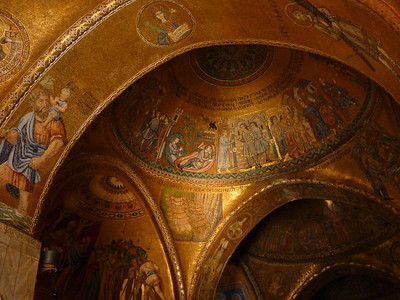 Basilica ceiling, golden mosiacs
