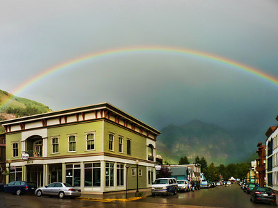 Rainbow over Downtown Telluride, CO