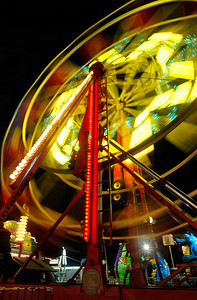 Ferris wheel, 1 second exposure